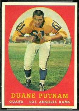 Duane Putnam 1958 Topps football card