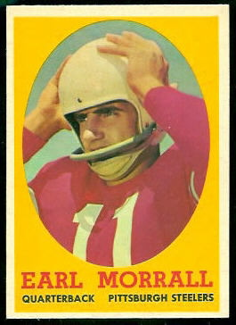Earl Morrall 1958 Topps football card