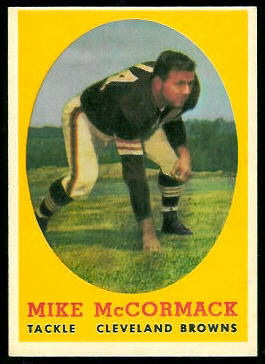 Mike McCormack 1958 Topps football card