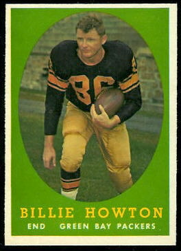 Bill Howton 1958 Topps football card