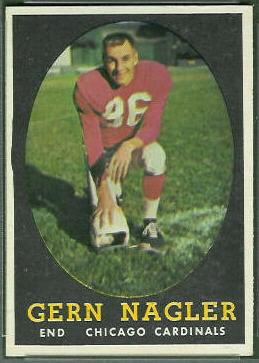 Gern Nagler 1958 Topps football card