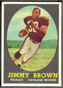 Jim Brown 1958 Topps football card