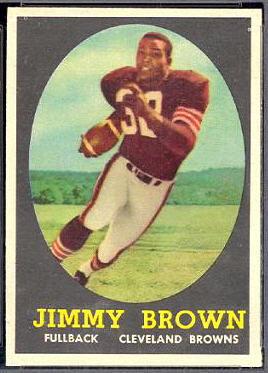 Jim Brown Rookie Card 1958 Topps 62 Vintage Football