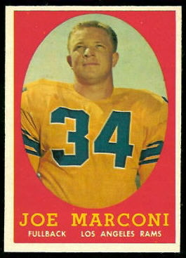 Joe Marconi 1958 Topps football card