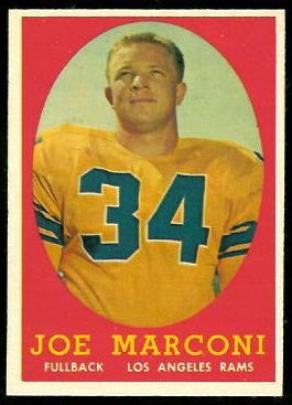 Joe Marconi 1958 Topps football card