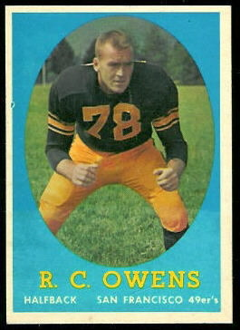 R.C. Owens 1958 Topps football card