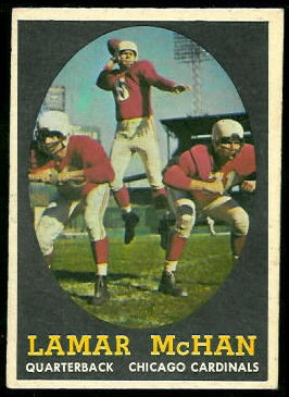 Lamar McHan 1958 Topps football card