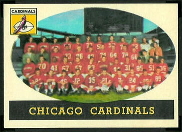 Chicago Cardinals Team 1958 Topps football card
