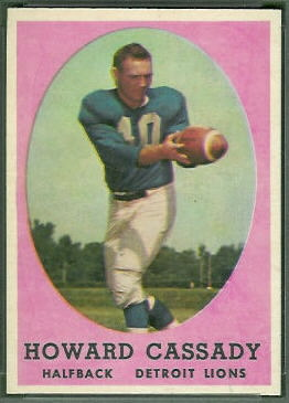 Howard Cassady 1958 Topps football card