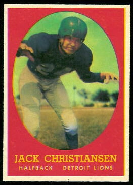 Jack Christiansen 1958 Topps football card