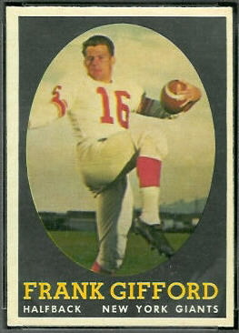 Frank Gifford 1958 Topps football card