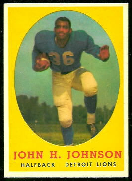 John Henry Johnson 1958 Topps football card