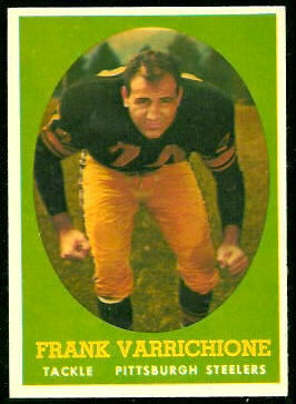 Frank Varrichione 1958 Topps football card