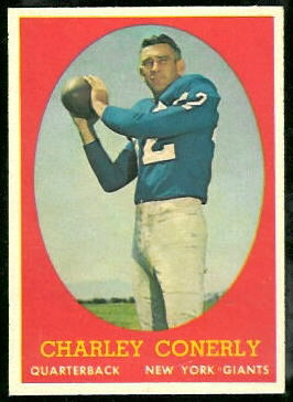Charley Conerly 1958 Topps football card