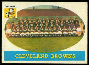 Cleveland Browns Team 1958 Topps football card