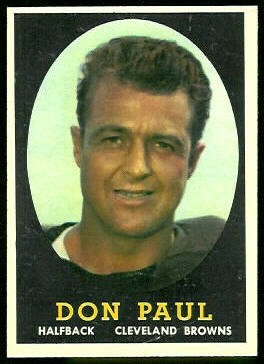 Don Paul 1958 Topps football card