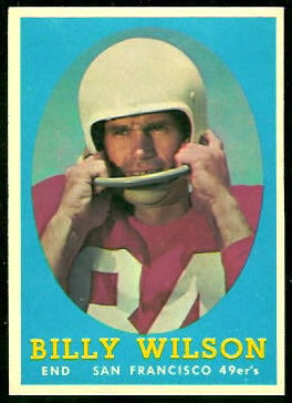 Billy Wilson 1958 Topps football card