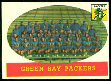 Green Bay Packers Team 1958 Topps football card
