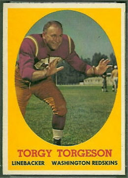 Torgy Torgeson 1958 Topps football card
