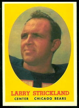 Larry Strickland 1958 Topps football card