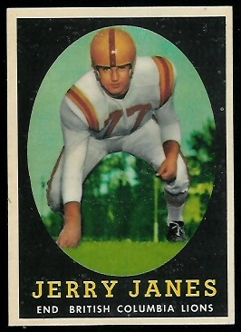Jerry Janes 1958 Topps CFL football card