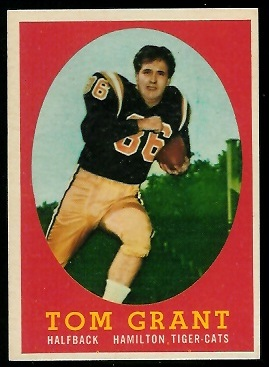 Tommy Grant 1958 Topps CFL football card