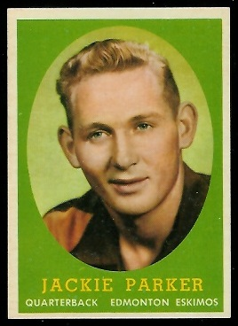 Jackie Parker 1958 Topps CFL football card