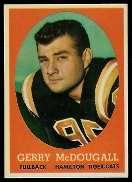 Gerry McDougall 1958 Topps CFL football card