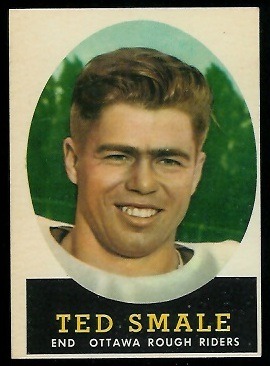 Ted Smale 1958 Topps CFL football card