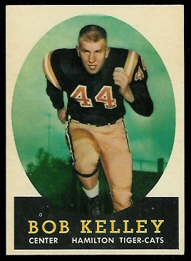 Bob Kelley 1958 Topps CFL football card