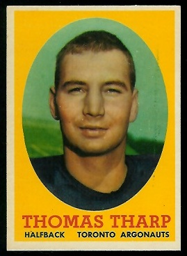 Corky Tharp 1958 Topps CFL football card