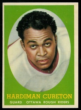 Hardiman Cureton 1958 Topps CFL football card