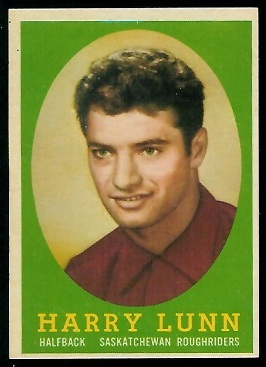 Harry Lunn 1958 Topps CFL football card
