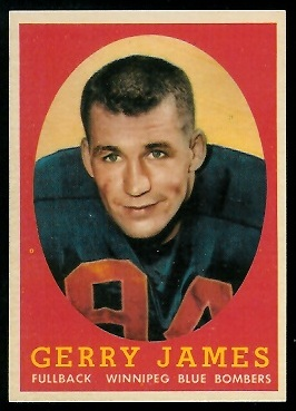 Gerry James 1958 Topps CFL football card