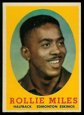 Rollie Miles 1958 Topps CFL football card