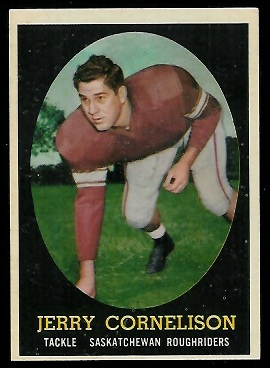 Jerry Cornelison 1958 Topps CFL football card