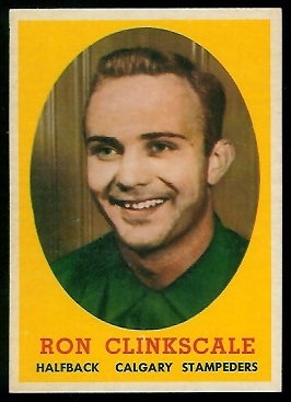 Ron Clinkscale 1958 Topps CFL football card