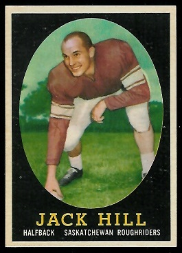 Jack Hill 1958 Topps CFL football card