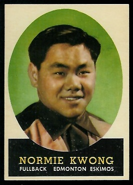 Normie Kwong 1958 Topps CFL football card