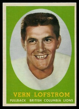 Vern Lofstrom 1958 Topps CFL football card
