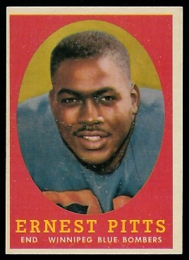 Ernie Pitts 1958 Topps CFL football card