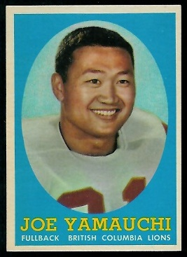Joe Yamauchi 1958 Topps CFL football card
