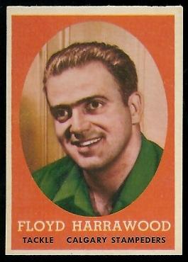 Floyd Harrawood 1958 Topps CFL football card