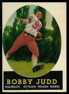 Bobby Judd 1958 Topps CFL football card