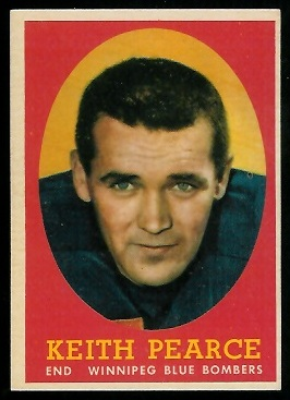 Keith Pearce 1958 Topps CFL football card