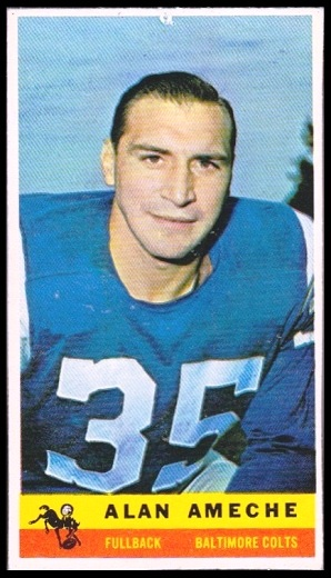 Alan Ameche 1959 Bazooka football card