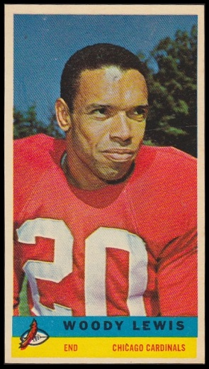 Woodley Lewis 1959 Bazooka football card
