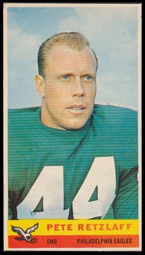 Pete Retzlaff 1959 Bazooka football card