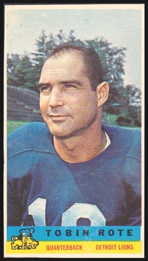 Tobin Rote 1959 Bazooka football card