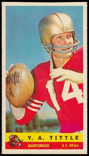 Y.A. Tittle 1959 Bazooka football card